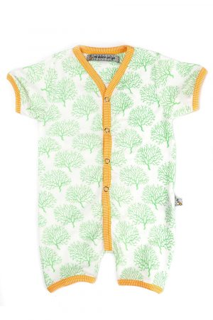 coral-printed-half-leg-romper-green-color-for-baby-boy
