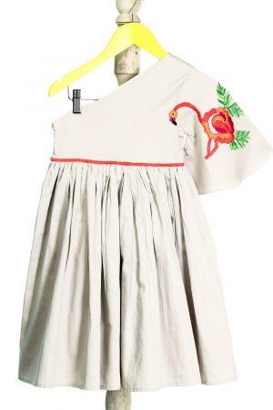 flamingo-embroidered-formal-dress-grey-color-for-girls-1