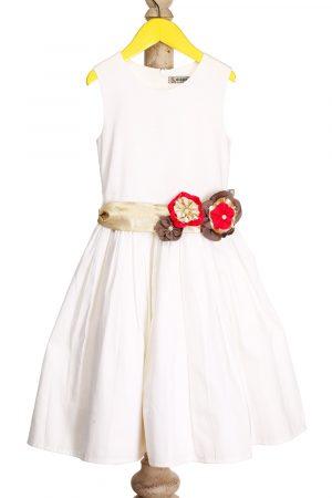 formal-dress-with-gold-flower-belt-ivory-color-for-girls-1