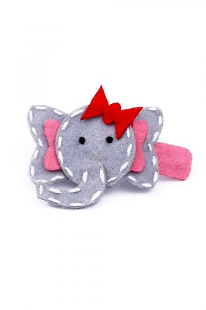 large grey elephant clip for girl