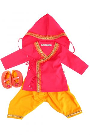 orange-and-cherry-jamna-set-for-new-borns-for-baby-boy