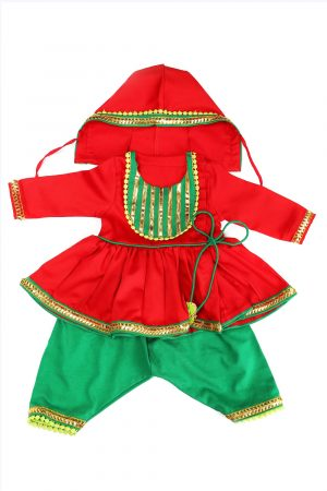 red-and-emerald-jamna-set-for-new-borns-for-baby-boy